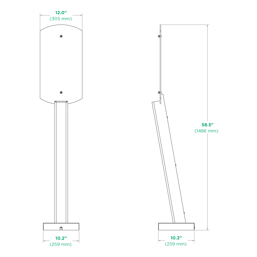 Pedestal Mount Schematic