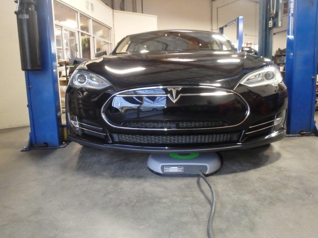 World's first self charging Tesla.