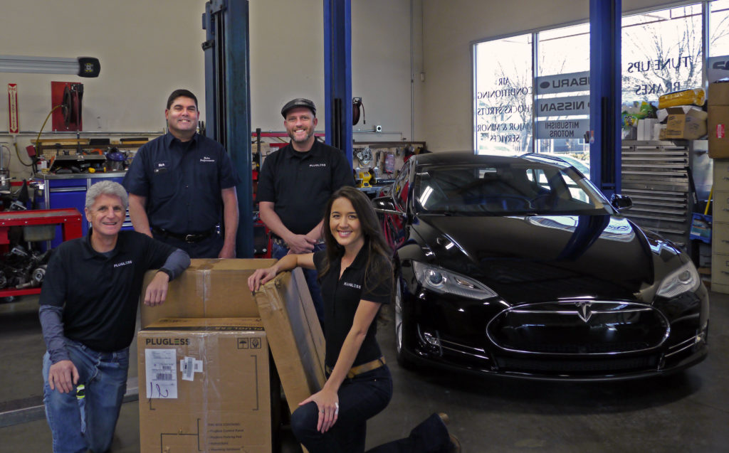 The Plugless Team Was Thrilled To Deliver First For Model S Autonomous Charging System